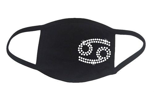RHINESTONE Cancer face mask - bling zodiac astrology birthday birth date crab