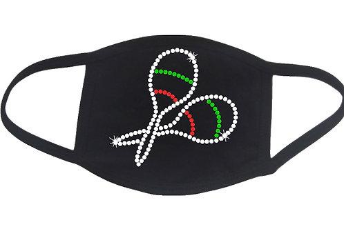 RHINESTONE Maracas face mask cover - Cinco de Mayo Mexico Mexican celebrate