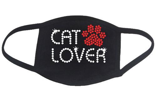 RHINESTONE Cat Lover face mask cover - bling kitty kitten feline adopt kitties