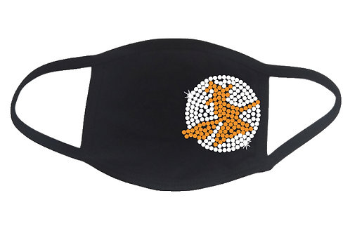 RHINESTONE Witch Moon Halloween face mask - bling scary broom moonlight party