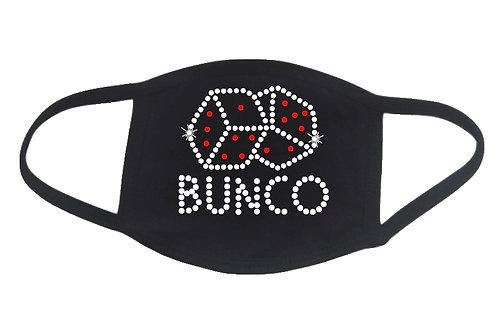 RHINESTONE Bunco face mask - bling fun game night girls evening play dice roll