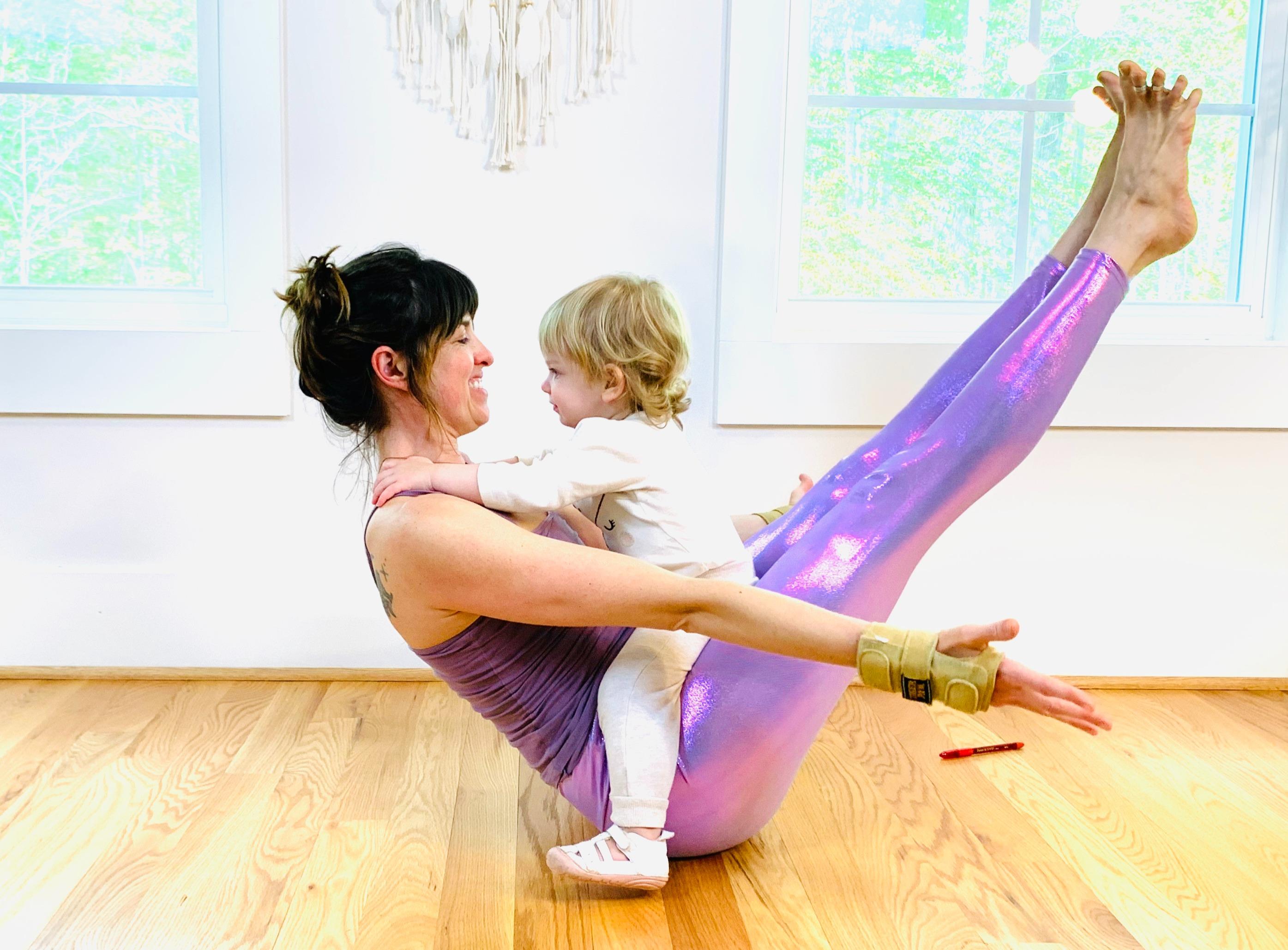 Adara loves yoga time