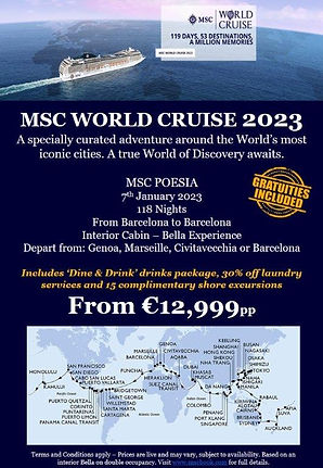 Poesia World Cruise 2023 - Ireland WITH