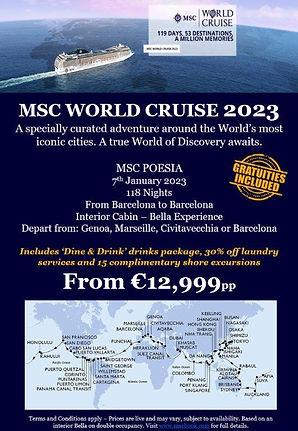 Poesia World Cruise 2023 - Ireland WITH