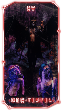 Cyberpunk card game by Niolu