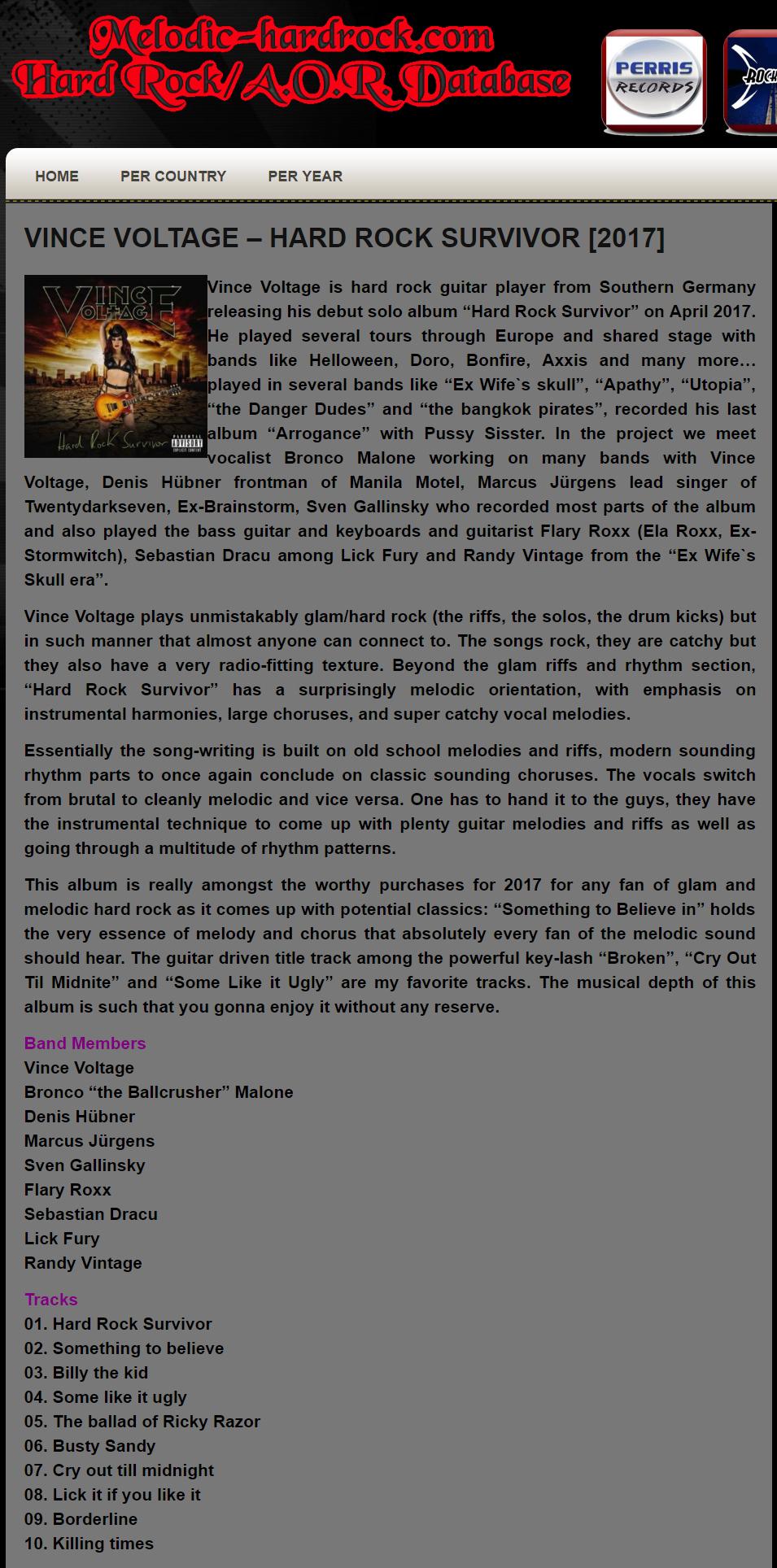 melodic hardrock.com online magazine