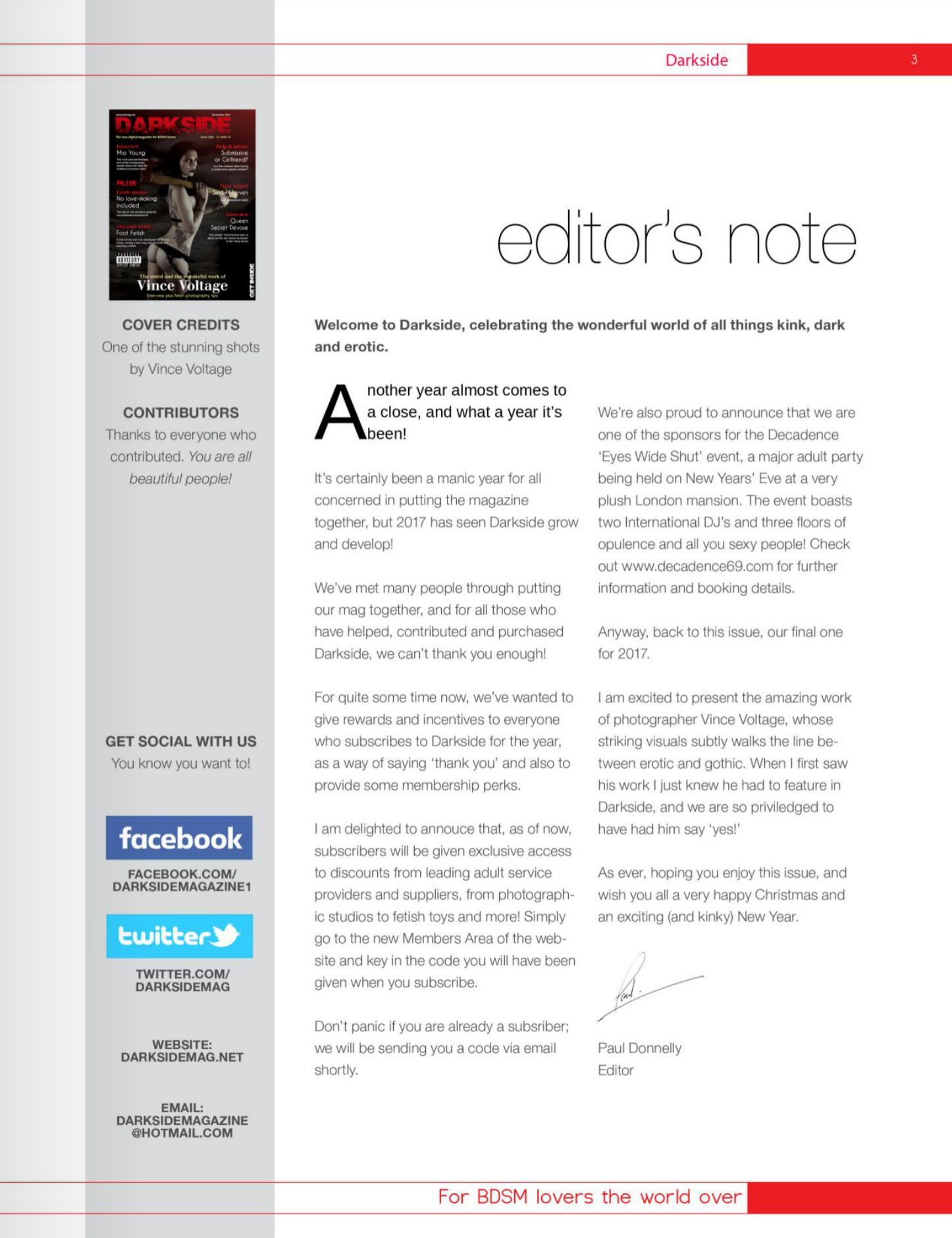 Darkside editorial