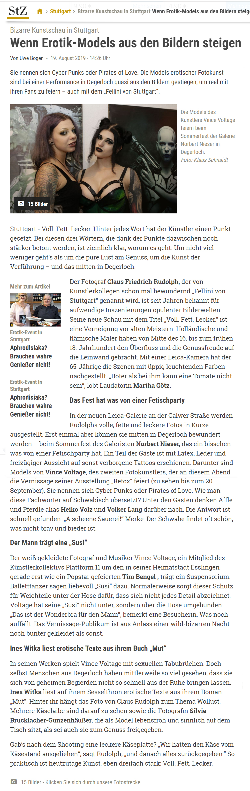 Stuttgarter Zeitung 20. August 2019