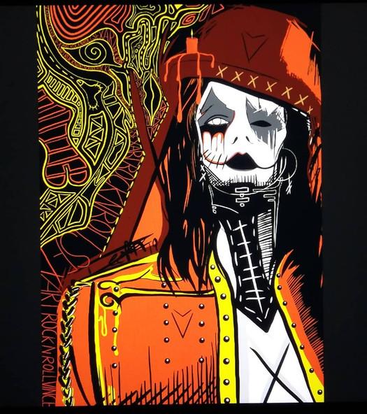 Deefa Arts Vince Voltage painting