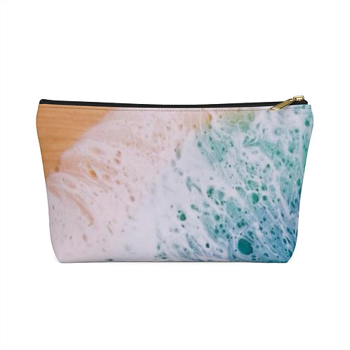 Foamy wave double sided accessory pouch