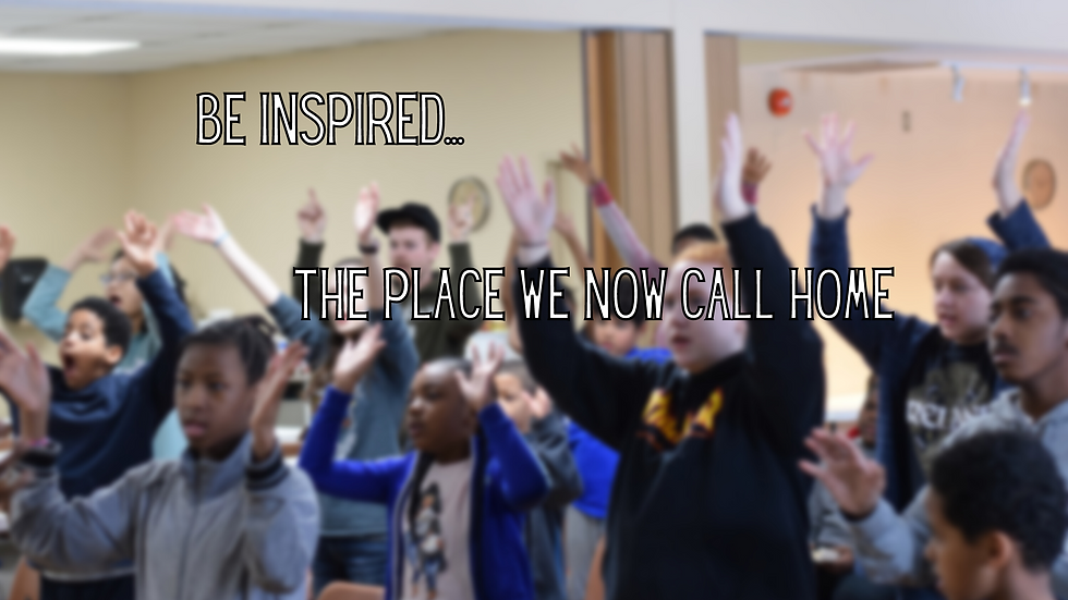 Be Inspired... the place we now call home