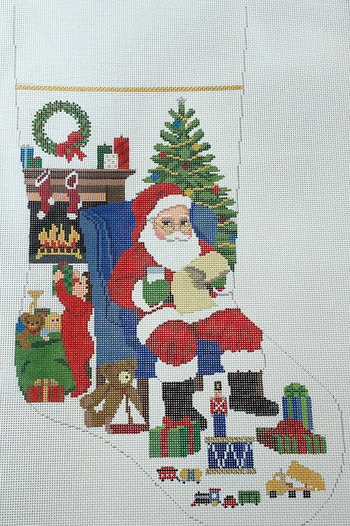 Santa sitting Stocking