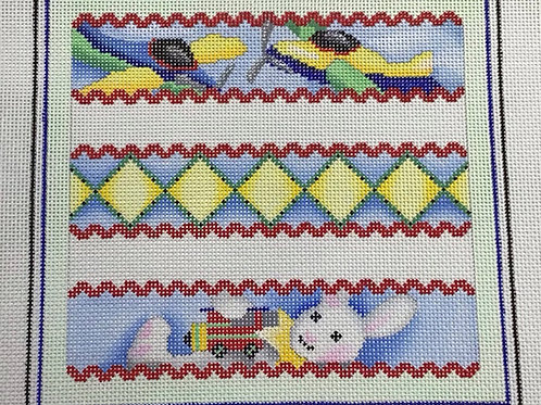 Bunny and Planes Birth Sampler