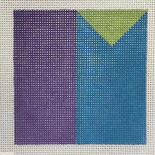 Purple blue green