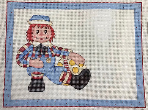 Raggedy Ann Birth Sampler