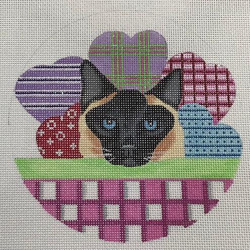 Heart Basket Cat