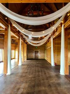 Drapes & market lights at the Flying Horse Ranch