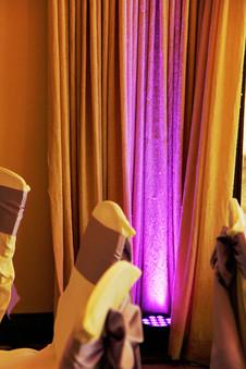 Purple Uplights | Blackbear Country Club
