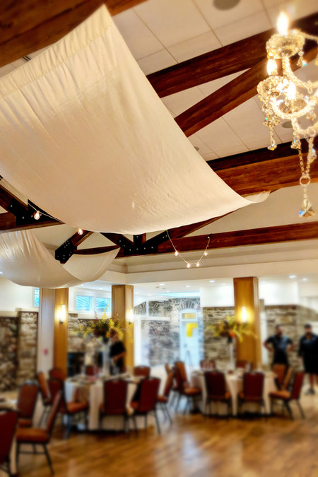 Highlands Ranch Mansion | Chandeliers | Draping | Market Lights