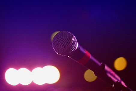 Microphone at a Concert