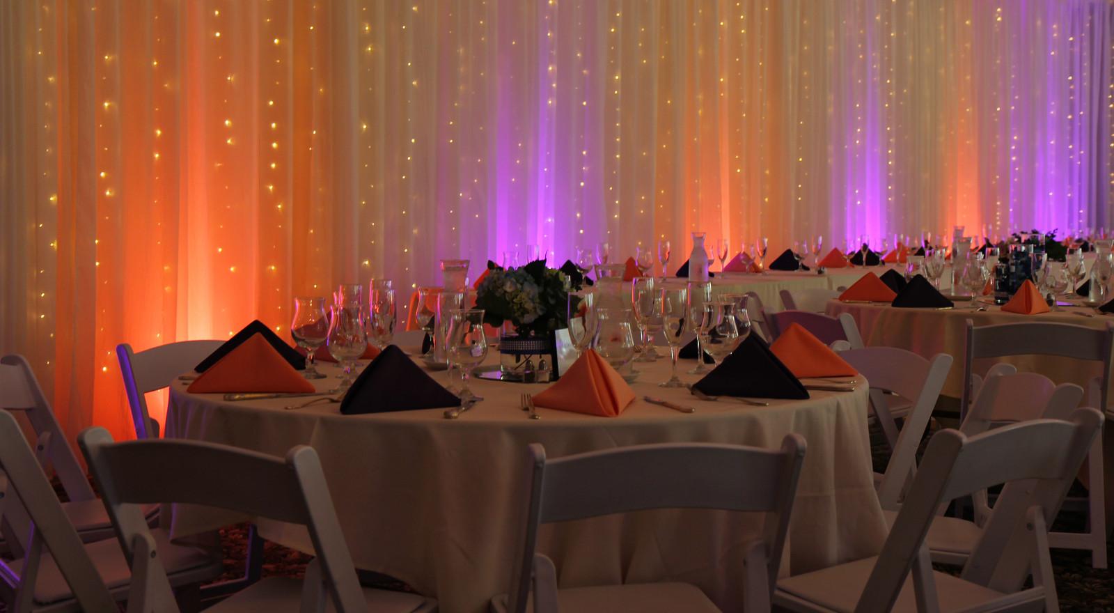 Wedding Decor | Uplights | Pipe & Drape | Twinkle Lights | Ken Caryl