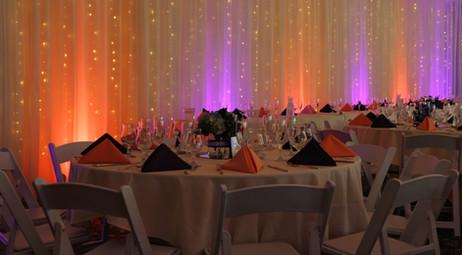 Wedding Decor | Uplights | Pipe & Drape | Twinkle Lights | Ken Caryl Wedgewood