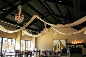 Ceiling Draping | Twinkle Lights | BlackForest Wedgewood