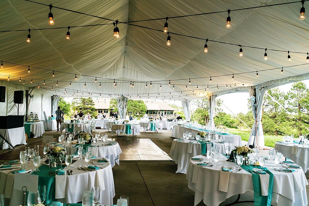 Arrowhead Golf Club Tent | Lights by Rockstar Rentals