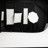 Variety of softboxes with Alienbees 1600 lights