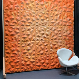 8x8 Orange Texture Backdrop Wall