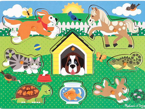 melissa and doug farm animals peg puzzle