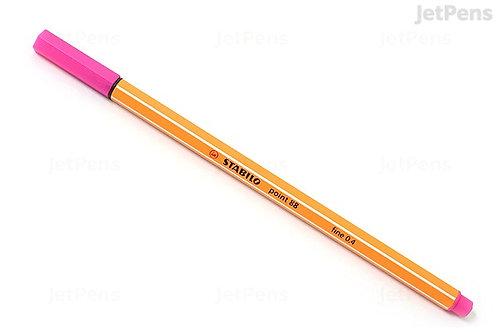 stabilo point 88 fine 0.4 pink,blue,green,black,purple