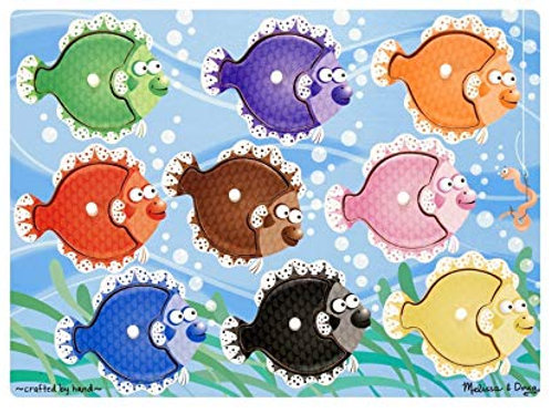 meliisa and doug colorful fish peg puzzle