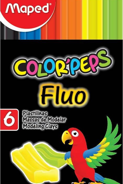 maped colorpeps fluo modelling clay 6pk