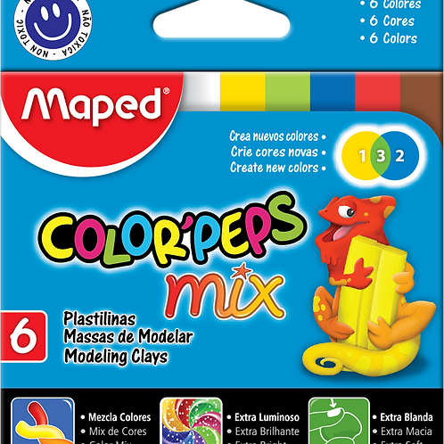 maped colorpeps mix modelling clay 12pk $20.00