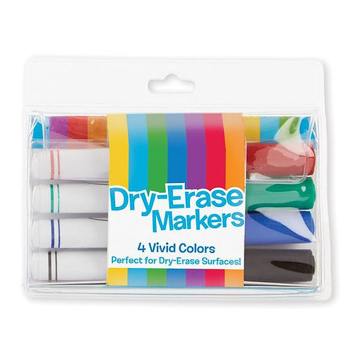 Melissa and Doug Dry Erase Markers - 4 Vivid Colours