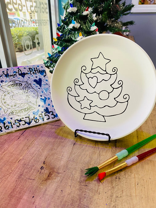 Christmas Tree Party Plate