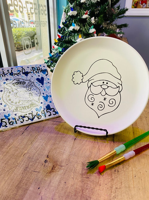 Santa Party Plate