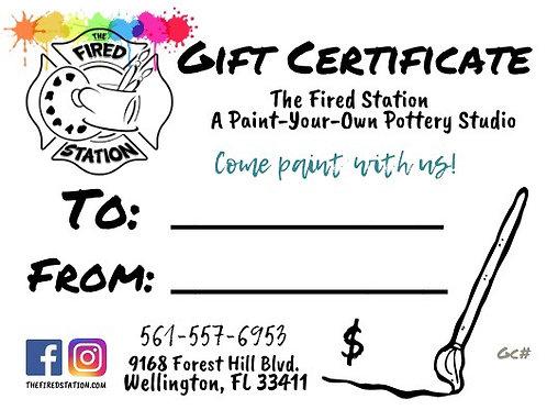 Virtual Gift Certicate