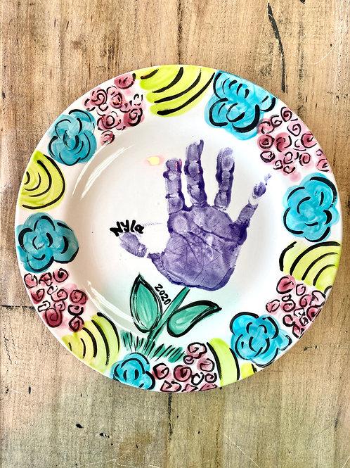 Flower Hand/Footprint Salad Plate