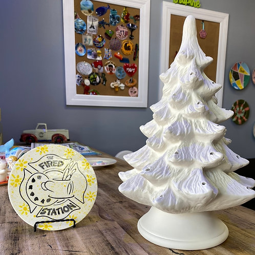 vintage christmas tree w/ light kit