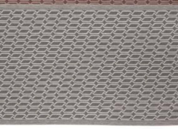 Jokipiin Pellava Sitztuch grau/weiß Muster
