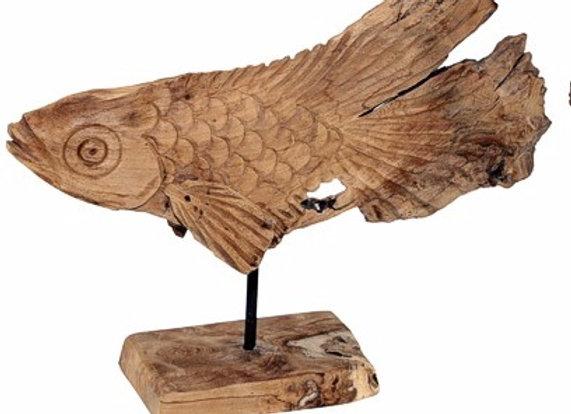 Dekoobjekt Fisch Holz