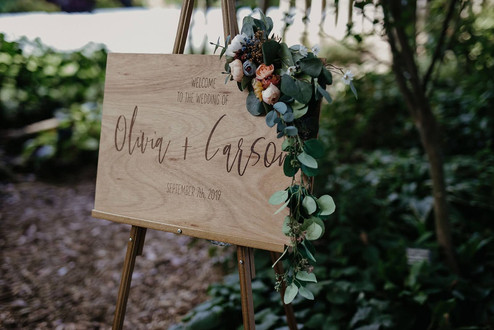 Wooden Modern Welcome Sign