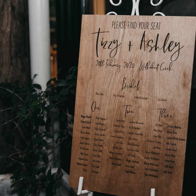 Wooden Table Plan