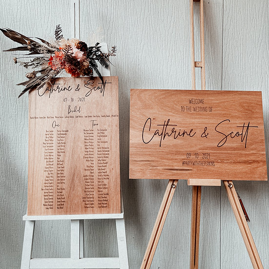 Wedding Signage Combo - Welcome and Seating Chart