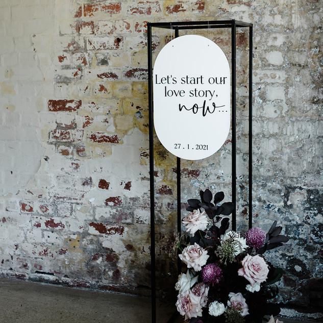 Oval Hanging Signage
