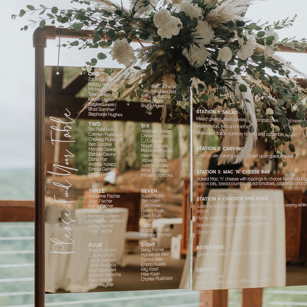 Gold Mirrored Table Plan