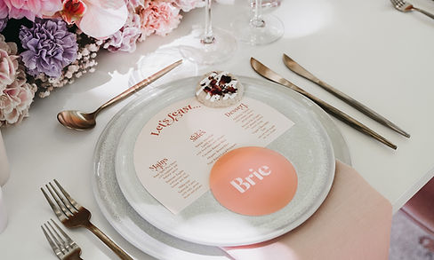 Pink Frosted Placecards