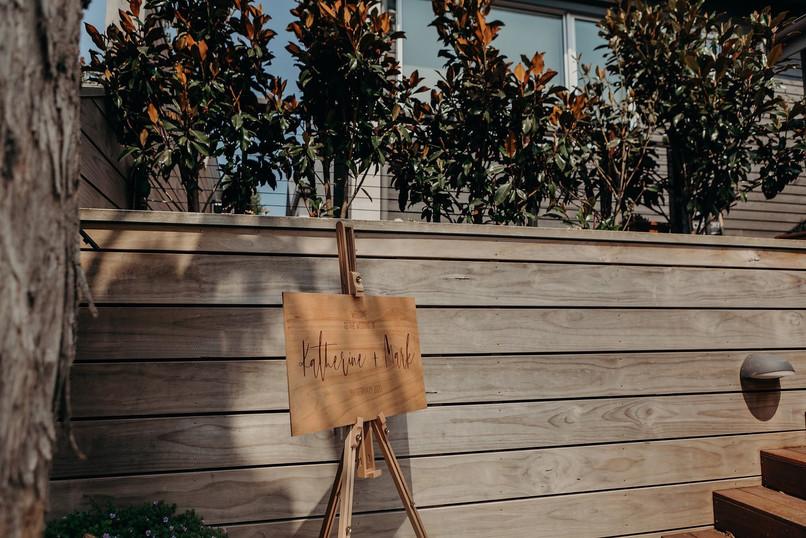 Modern Eco Wedding Sign